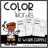 Color Words - Worksheets