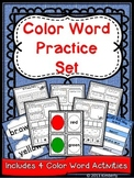 Color Word Practice Set {4 Color Word Activities Included in this 50 Page Set}