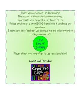 Kindergarten Color Word Practice Sheets