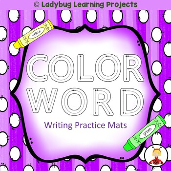 Color Word Practice Writing Mats