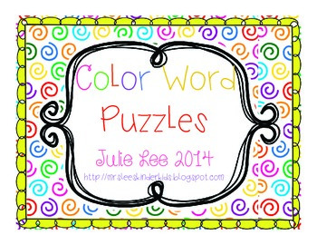 Color Word Puzzles Free