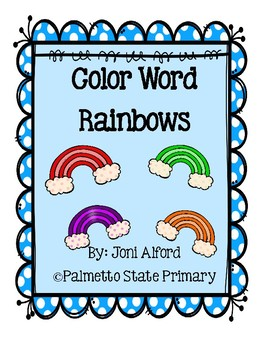 Color Word Rainbow Posters