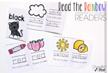 Color Word Readers - Read the Rainbow