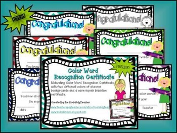 Color Word Recognition Certificates