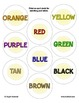 Color Word Recognition File Folder Literacy Center - Plate