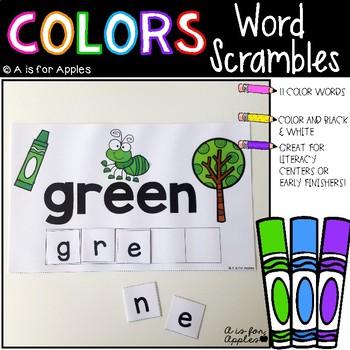 Color Word Scrambles