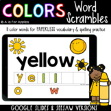 Color Word Scrambles DIGITAL | Distance Learning