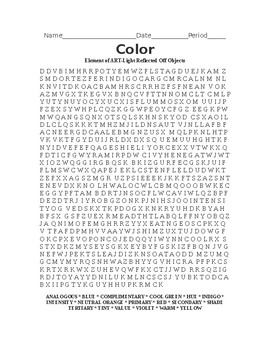Color Word Search