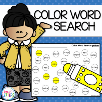 Color Word Search Pack