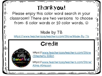 Color Word Searches