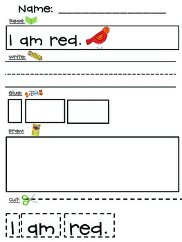 Color Word Sentence Builders