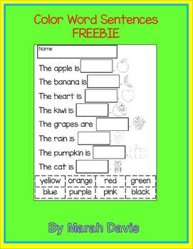 Color Word Sentences