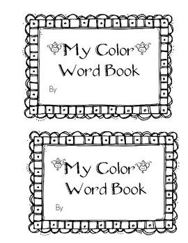 Color Word Sentences Book