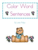 Color Word Sentences Book