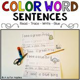 Color Word Sentences {Read-Trace-Write-Glue}