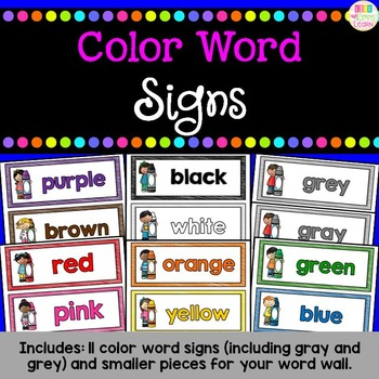 Color Word Signs