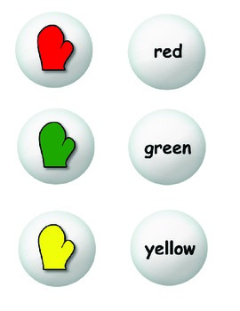 Color Word Snowball Matching Game