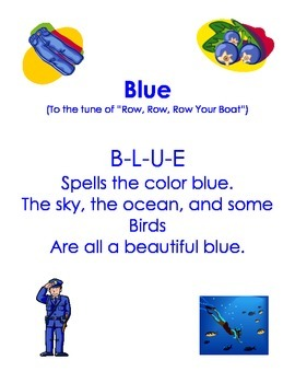 Color Word Songs