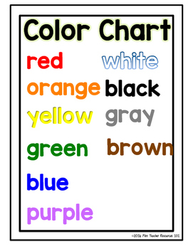 Color Word Spelling Mats