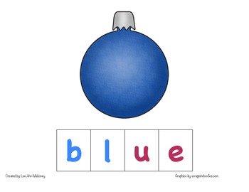 Color Word Spelling (Ornaments)