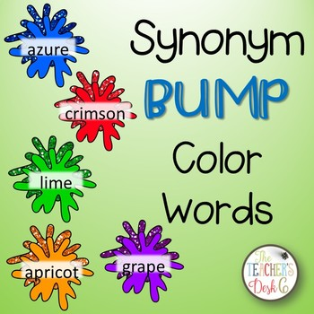 Color Word Synonym BUMP
