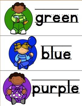 Color Word Vocabulary Cards {#TeacherMom}