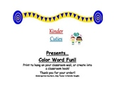 Color Word Wall Cards