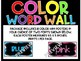 Color Word Wall Mini Posters Set of 11 Two font choices!