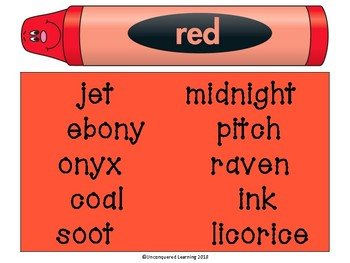 Color Word Word Wall Posters