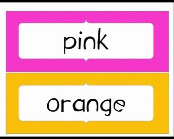 Color Word Word Wall Rainbow