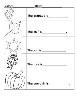 Color Word Worksheet