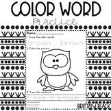Color Word Worksheets | Color Word Printables