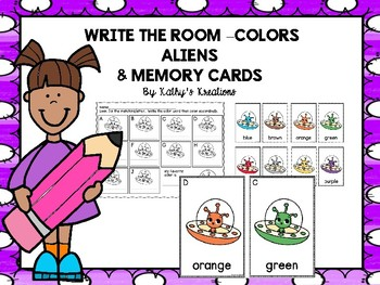 Color Word Write The Room -Aliens