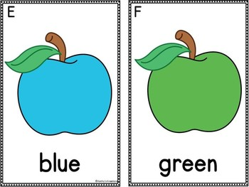 Color Word Write The Room -Apples