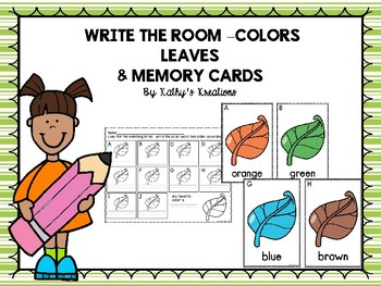Color Word Write The Room -Leaves