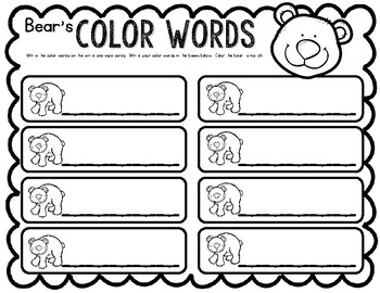 Color Word Write & Wipe--Center for K-2