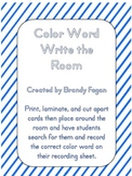 Color Word Write the Room