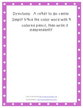 Color Word Writing
