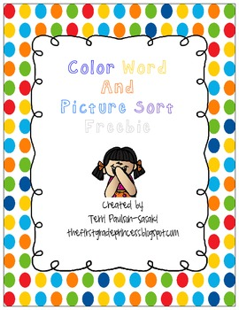 Color Word and Picture Sort