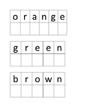 Color Word letter match