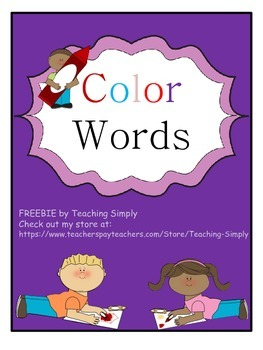FREE - Color Words