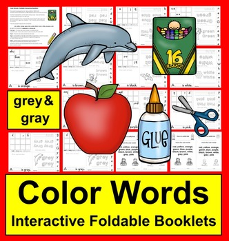 Color Words Books: Foldable Interactive Booklets