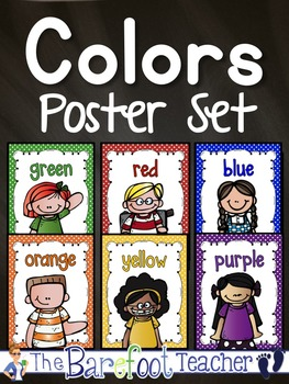 Color Words Posters