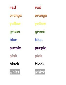 Color Words