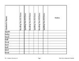Dolch Nouns Assessment Checklist