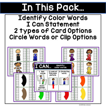 Color Words Activities