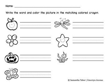 Color Words Activity