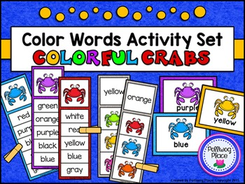 Color Words Activity Set - Colorful Crabs