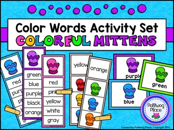 Color Words Activity Set - Colorful Mittens