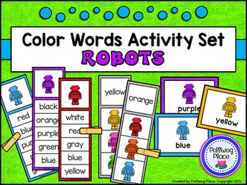 Color Words Activity Set - Robots
